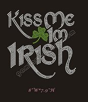 2012 kiss me I'm irish rhinestone transfers