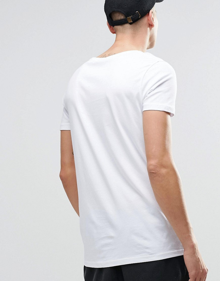 Sand longline t shirt design scoop neck rounded hem t shirt
