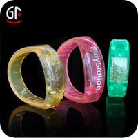 Hot New Products For 2015 LED Flashing Sound Activated Led Bracelet For Concerts