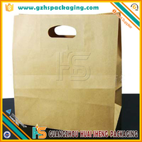 Custom printed food grocery shopping brown kraft paper bag for food