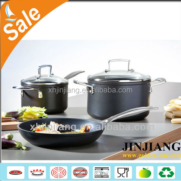 high quality highrang enamel stainless steel camping cookware pots and pans set