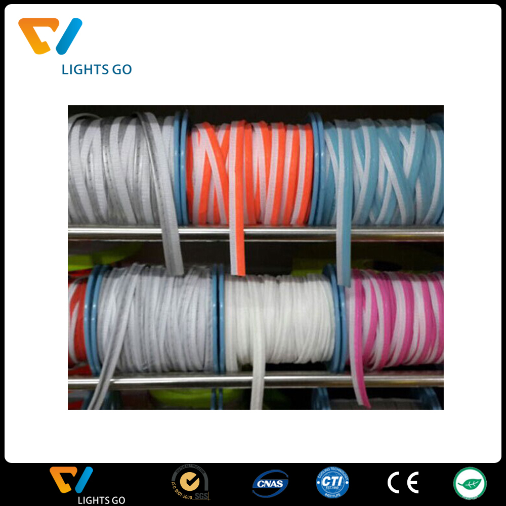 custom polyester webbing logo/glowing webbing/construction colored webbing