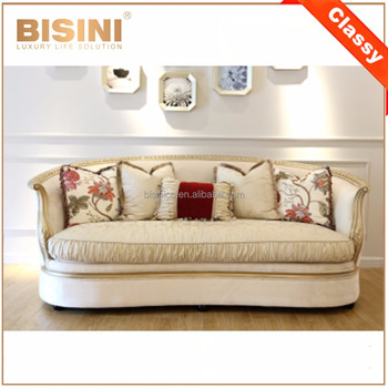 Luxury Nice Golden Wood Carving Dubai Sofa Furniture/ Vintage High Quality Fabric Sofa Recliner Comfortable Sofa Set