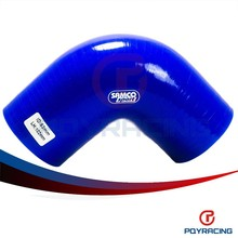 "PQY STORE-BLUE2.5"" 63mm 90 Degree Elbow Silicone Hose Pipe Turbo Intake PQY-SH9025"