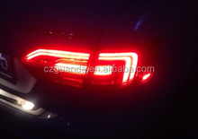 Cherry RedHigh Power Plastic Tail Light LED Rear Lamps For Volkswagen New Jetta MK6 Sagitar LTIME