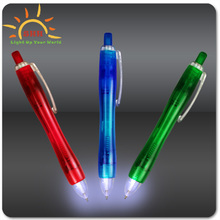 Personalized Blue Ultimate Lighted LED Glow Pen flashing led promotional gifts ballpoint pen with led lights