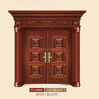 wooden armored security door steel wood door exterior main double armored door