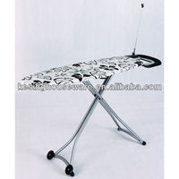 Mew Design Mesh Ironing Board with Retractable Iron Nest / Metal Ironing Table