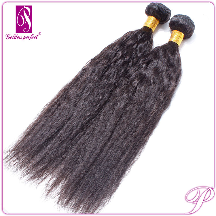 European Human Skin Ponytail Weft Kinky Straight Hair Extension