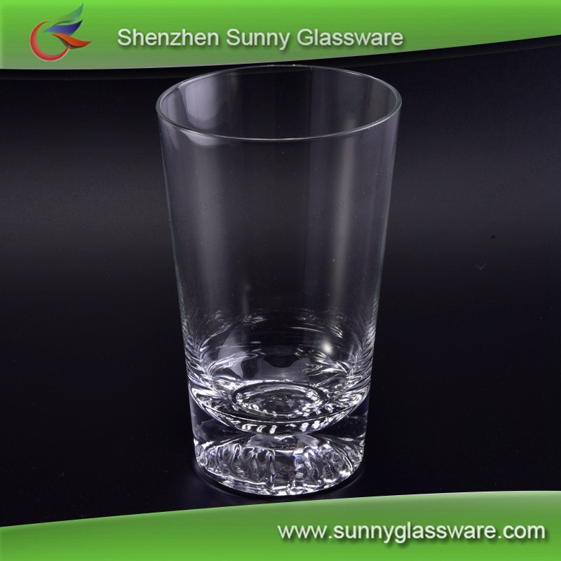 thick bottom handmade high white drinking water wine glass tumbler