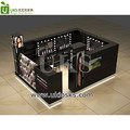 Wood MDF baking paint barber shop counter, mall hairdressing salon kiosk station manufacture