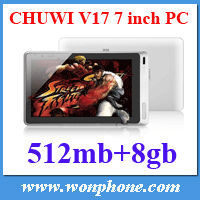 CHUWI V17 7'' Tablet PC Android 4.0 AllWinner A13 1.2GHz 8GB Super Slim