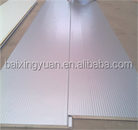 Insulated corrugated composite sandwich panels for fast wall construction materials