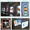 Logo Display Acrylic Material Edge-Lit Advertising LED Crystal Light Frame