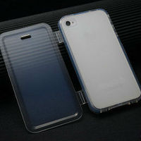 TPU Flip Case For iPhone 4s 4 Side Flip cover for iPhone 4s 4g 4 TPU Case For iPhone 4 hot new arrival items 2014 best price