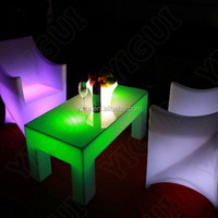 wireless battery remote bar LED Shining Double Table/ nice interactive multi touch table