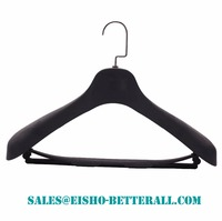 Betterall Flat Hook Wooden Coat Hanger With Steady Pant Bar