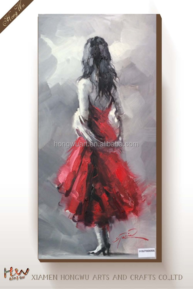 Beautiful Girl Women Hot Sex Image Nude Back Figure Canvas Oil Painting Print for Sale