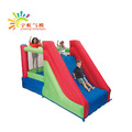 Guangzhou free Log printing factory price kids inflatable slide with blower