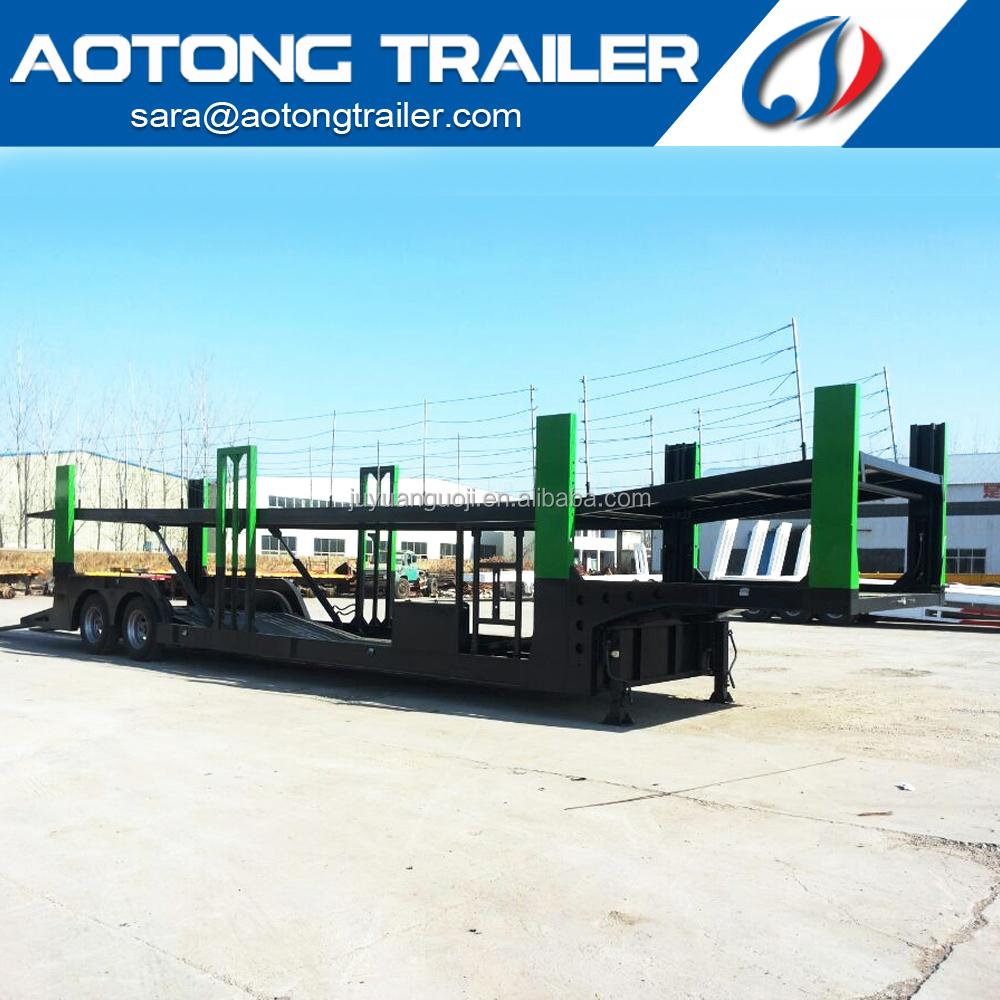 AOTONG Trailer high quality Auto transporter 12 units suvs towing type car hauler trailer for sale