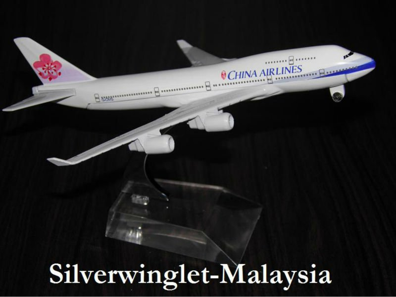 China Airlines Boeing B747-400 Diecast Aircraft Scale Model