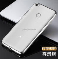 2016 Newest mobile phone good quality electroplate TPU case for xiaomi max