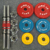 Crossfit hand grip paint dumbbell barbell Disc adjustable weight plates
