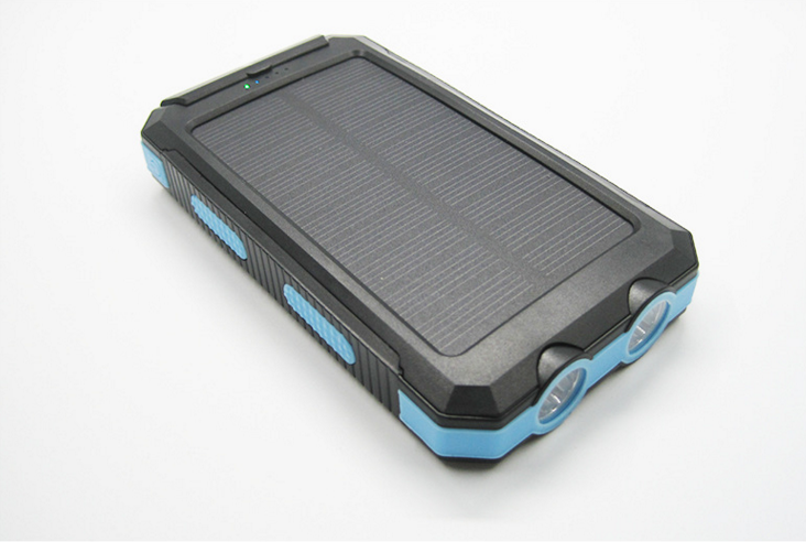 Solar Power Bank with compass 10000mah capacity Dual USB
