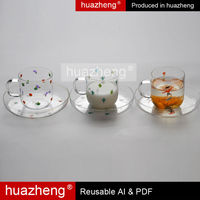 Fashion Borosilicate Handmade Clear Glass Water Pot With Handle