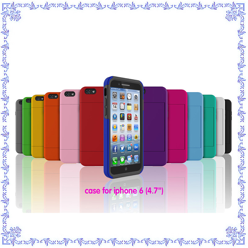 Silicone + PC cell phone case For iphone 6 case , for iphone 6 bumper case with hard cover
