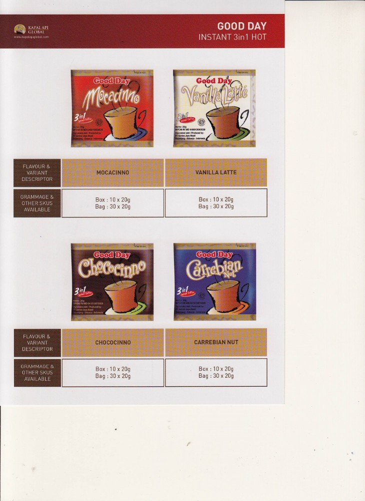 Kapal Api Indonesian popular instant coffee