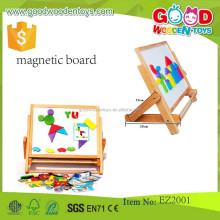 2017 High quality kids erasable drawing board magic magnetic writing board for children wooden easel for kids