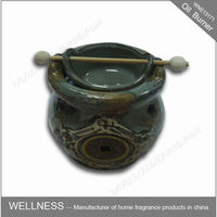 antique ceramic aromatherapy oil burner for tealight candle