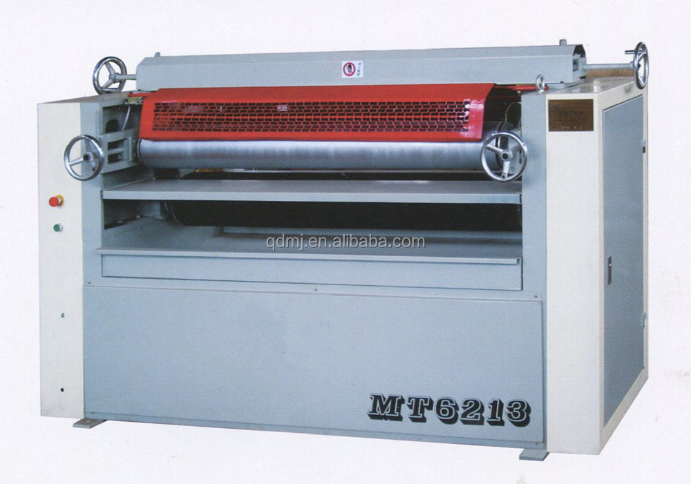 Woodworking double sides glue spreading machine