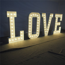 "60"" height LOVE DC 12V LED LETTER SIGN,LED bulb,different size,wholesale viable"