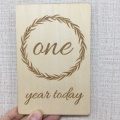 wood photo prop baby milestone cards