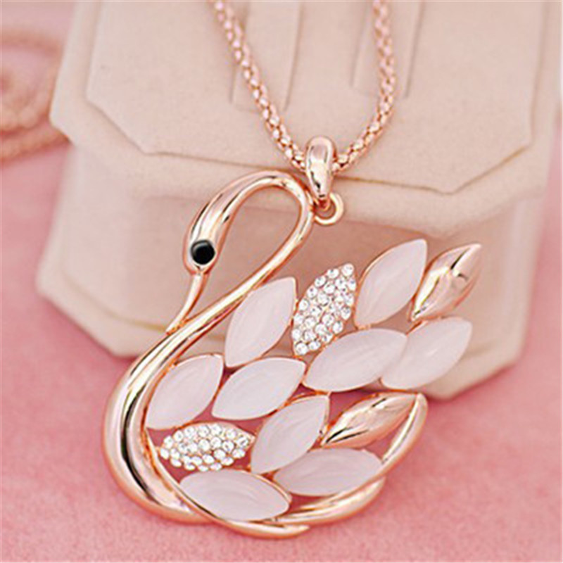 Direct Selling Real Collares Mujer Collier Necklaces Swan Fashion Accesories Long Pendant Necklace