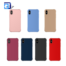 Matte Protective Defender Cover Soft TPU Case Shock-Absorption Bumper Air Cushioned 4 Corners Mobile Phone Case For iPhone X