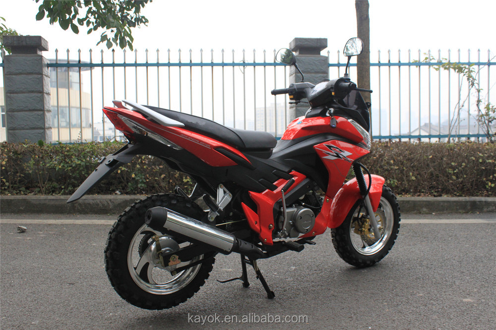 Motorcycle Chinese Motorcycles Gas/Diesel Moped With Pedals Motorcycles For Sale KM125-CP