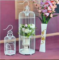 New design hot sale metal wire decorative bird cages,ornamental bird cage for decoration or protect bird