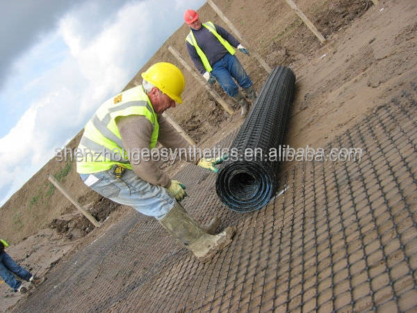 used as construction geogrid reinforcement material