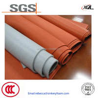 Customized colorful water proofing silicone sponge rubber sheet