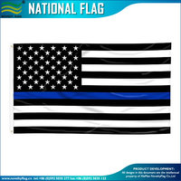 75D Polyester American Blue Line National Safety Flag