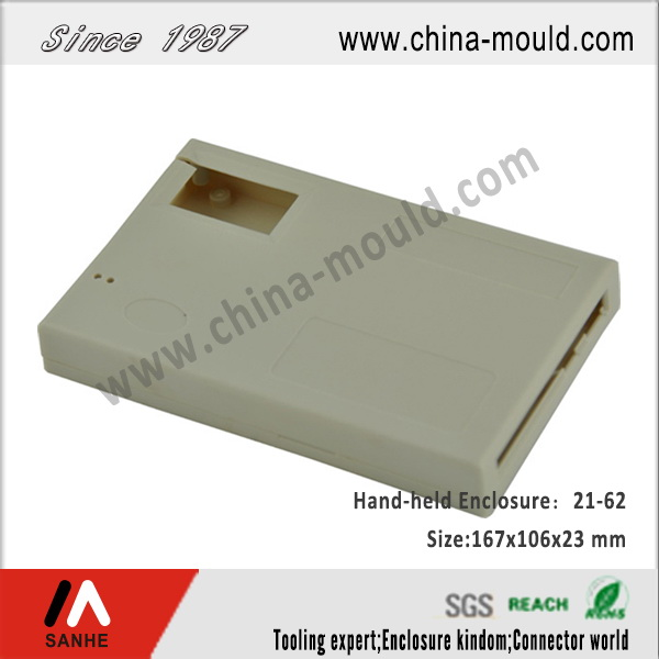 Plastic electronic hand-held enclosure