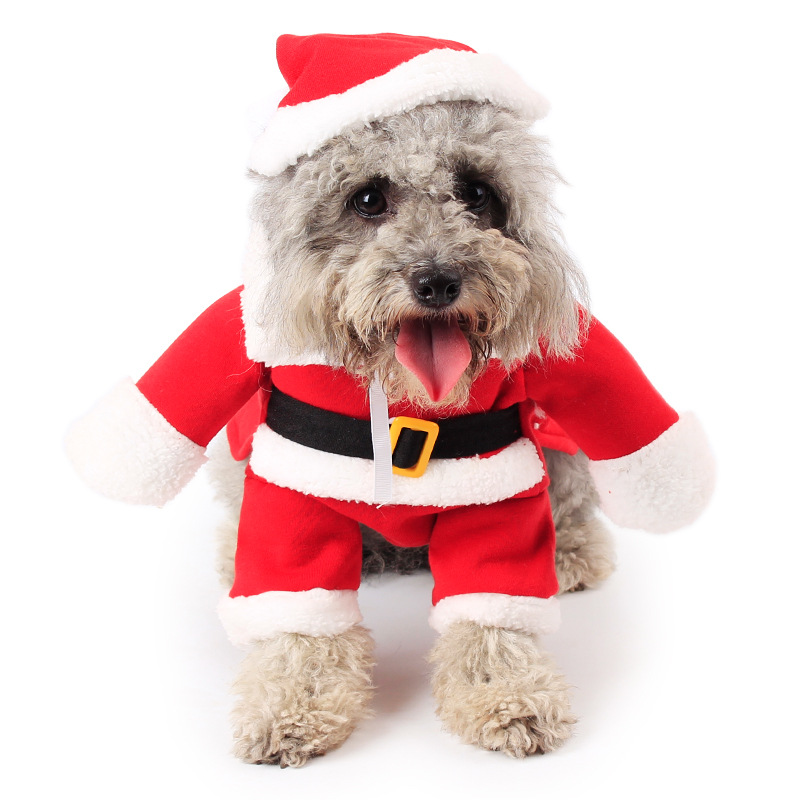 2016 Christmas Santa Claus Pet Dog Clothes Costume,Winter Apparel Cotton And fleece Pet Dog Coat
