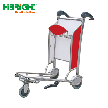 Chinese airport Luggage Trolley With Hand Brake