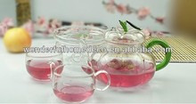 Pyrex clear glass teapot tea set/london teapot/fruit teapot