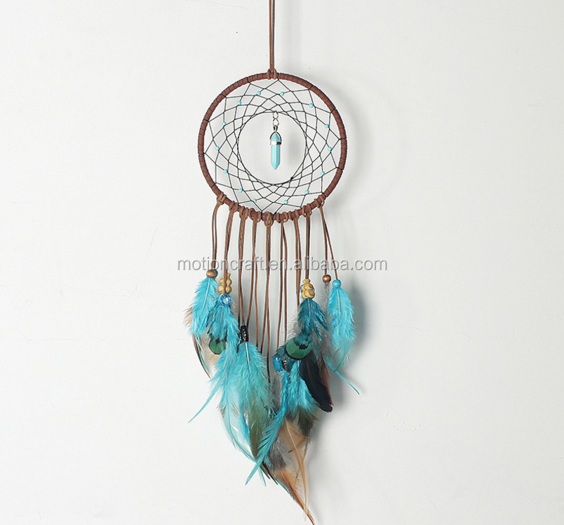 DIY Feather Indian dream catcher craft small MOQ high quality
