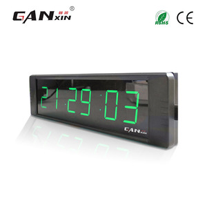 [Ganxin]Low Voltage 1'' 6 Digits Small Screen Led Cooking Timer Digital Wall Clock