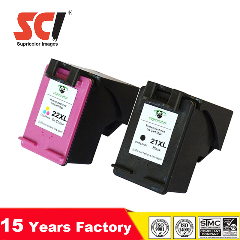 original quality ink cartridge compatible hp 21 22 cartridge